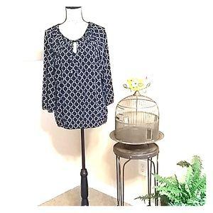 Micheal Kors size L Black blouse M00013T